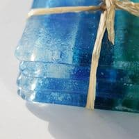 Fused Glass Coasters | Cornish Coast |Handmade Coasters